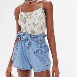 Urban Outfitters Fiona Denim Paperbag Shorts Large